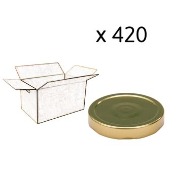 Capsule pour Bocal Jupe Haute diam 82 mm couleur Or par 420