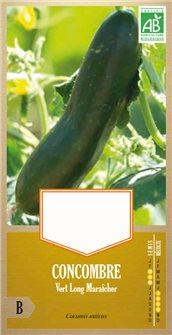 Graines de concombre Vert Long Maraîcher