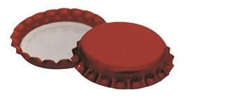 Bouchons couronne 26 mm rouges pour bouteilles à bière