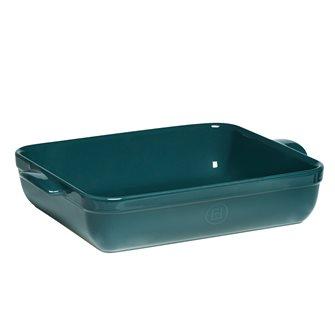 Plat à four rectangulaire 36 cm céramique Ultime Emile Henry couleur bleu Feu Doux