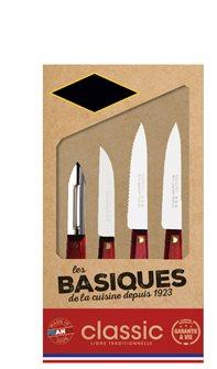 Coffret 4 couteaux cuisine manche bois fabriqué en France