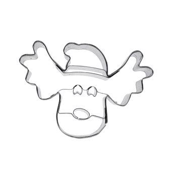 Emporte-pièces tête de renne avec un chapeau de père Noël