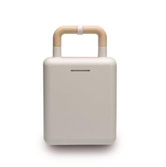 Gaufrier antiadhésif blanc 2 en 1 pour gaufres et croque-monsieur 600 W