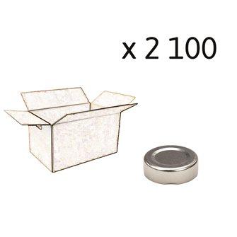 Capsule pour Bocal Jupe Haute diam 43 mm couleur argent par 2100