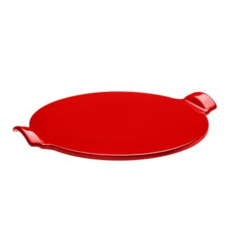 Pizza Stone lisse 37 cm rouge Coquelicot Emile Henry