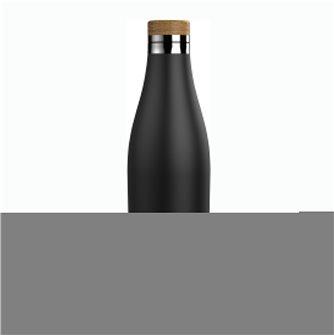 Gourde inox 0,5 litre isotherme avec bouchon inox Meridian noire Sigg